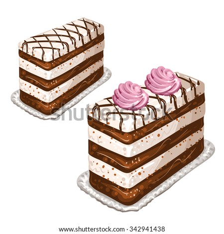 Tasty cakes - stock photo