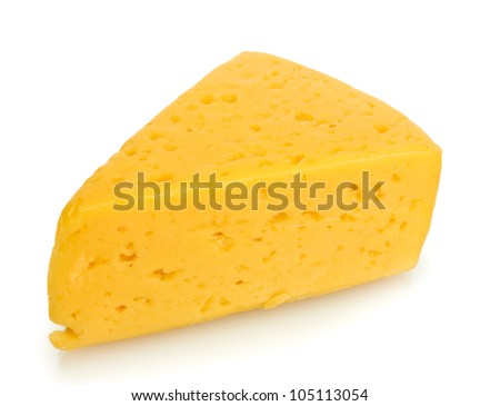 tasty cheese isolated on white