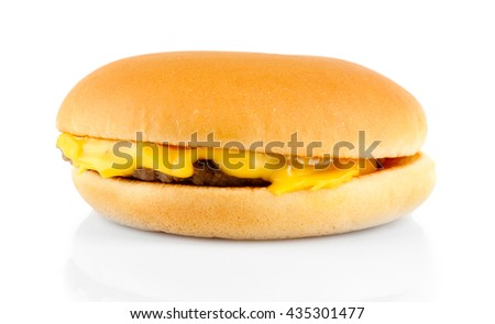 Tasty cheeseburger, isolated on white
