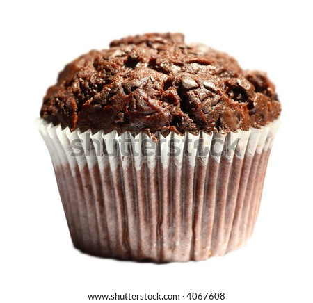 Tasty Chocolate Muffin (with clipping path)
