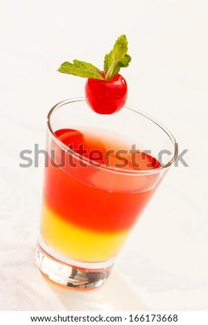 tasty cocktail - stock photo