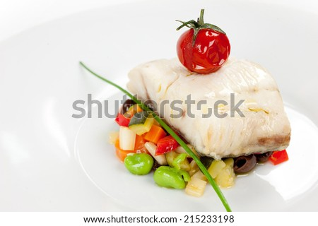 tasty cod - stock photo