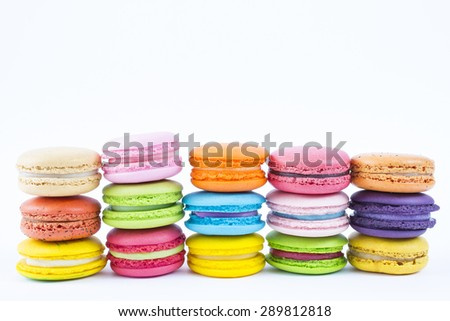 Tasty colorful macaron - stock photo