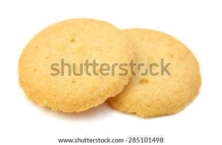 tasty cookies on a white background - stock photo