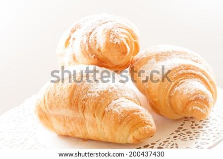 tasty croissants - stock photo