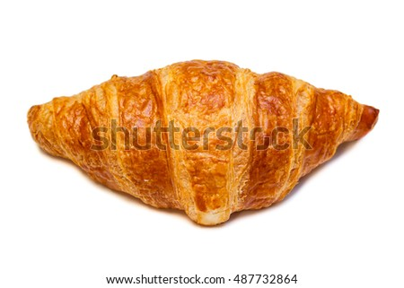 Tasty croissants isolate on white background.