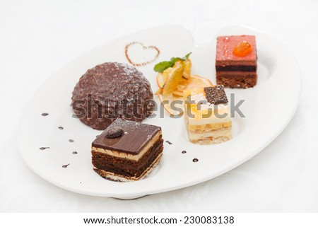 tasty desserts - stock photo