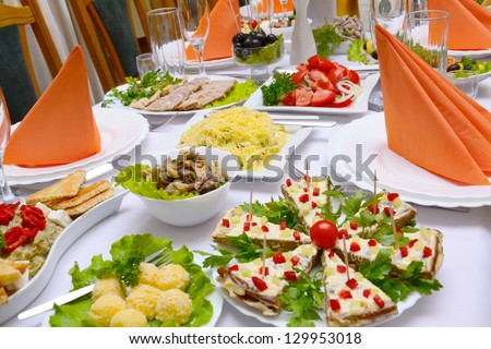 Tasty food - Banquet in the restaurant