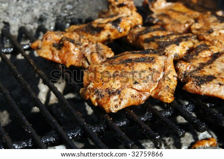 Tasty grilled turkey close-up