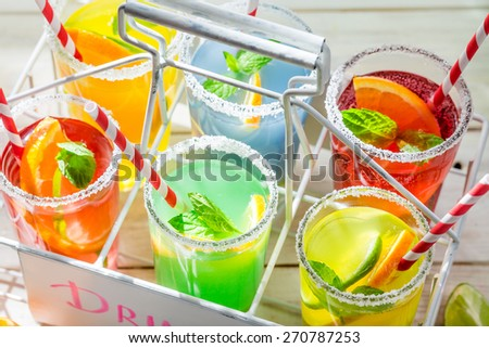 Tasty lemonade with citrus fruits