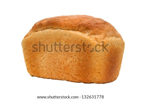tasty loaf of bread russian isolated on white background clipping path - stock photo
