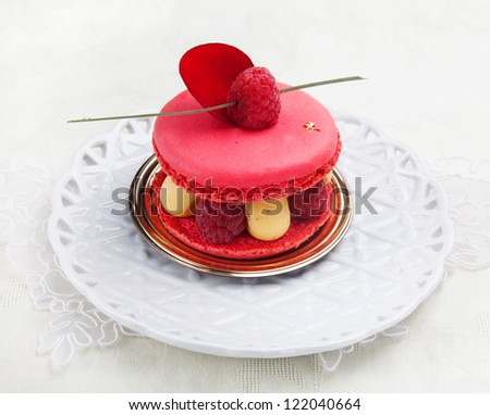 Tasty looked cake with jelly - stock photo