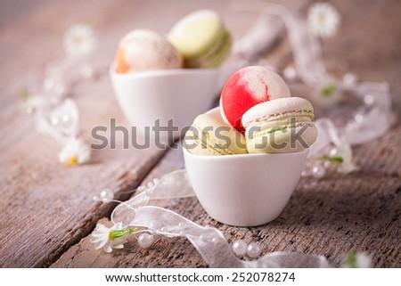 tasty macarons - stock photo