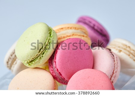tasty macaroons - stock photo