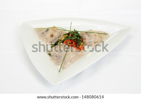 Tasty meal served for lunch - stock photo