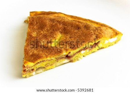 Tasty omelette isolated on white