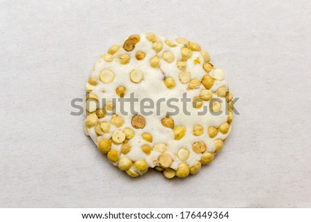 Tasty oriental sweets with nuts and humous - stock photo