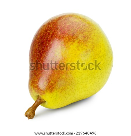 tasty pear isolated on the white background