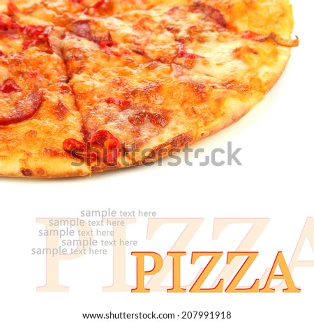 Tasty pepperoni pizza - stock photo