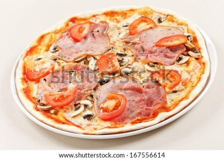 tasty pizza - stock photo