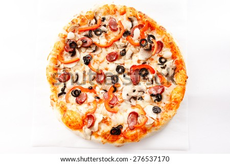 tasty pizza - stock photo