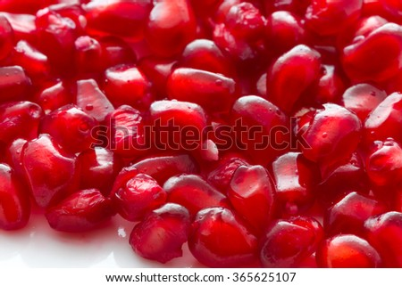 Tasty Pomegranate with its red beans