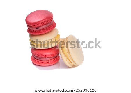 Tasty red and white macaroon