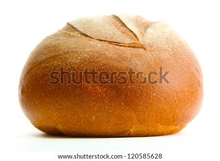 tasty rye bread, isolated on white - stock photo
