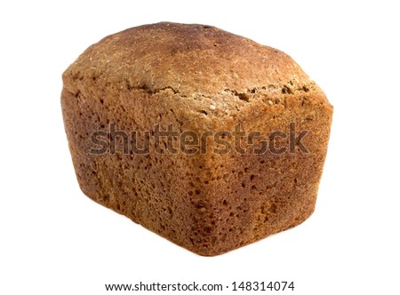 Tasty rye bread, isolated on white background