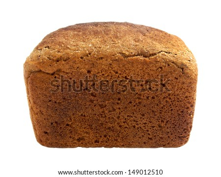 Tasty rye bread, isolated on white background - stock photo