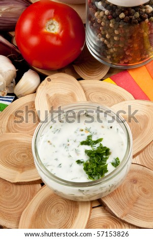 Tasty Salad Dressing - stock photo
