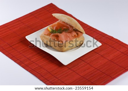 Tasty Salmon sandwich