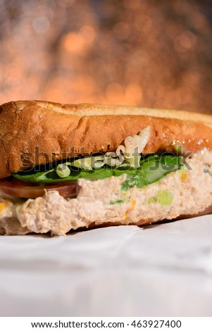 tasty sandwiches of tuna