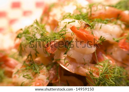 Tasty Shrimp dish with dill