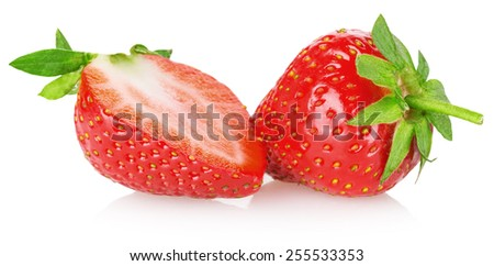 tasty strawberry isolated on the white background