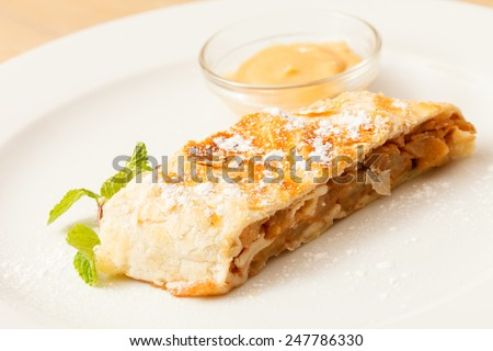 tasty strudel - stock photo