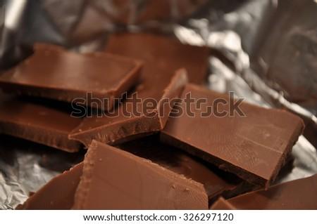 tasty sweet chocolate for children - stock photo