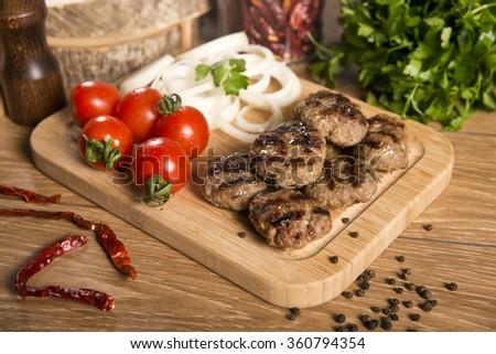 Tasty Turkish Meatball (Kofte) - stock photo