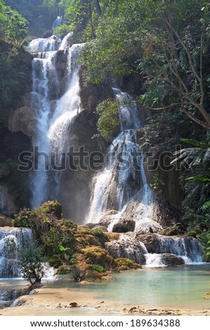 Tat Kuang Si waterfalls - stock photo