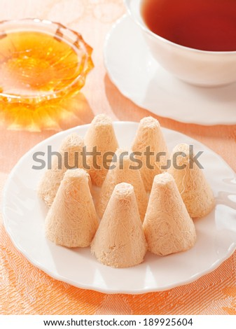 Tatar sweets on the table - stock photo