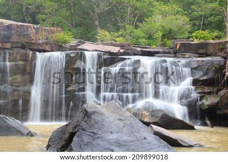 Tatton waterfall in National park ,Chaiyaphum province Thailand - stock photo