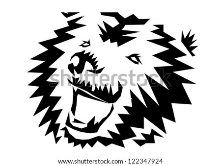 tattoo grizzly - stock photo