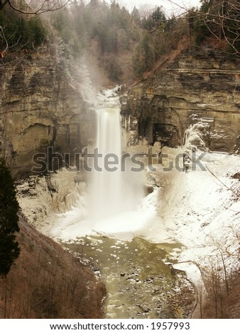 Taughannock Falls, Trumansburg, NY - stock photo