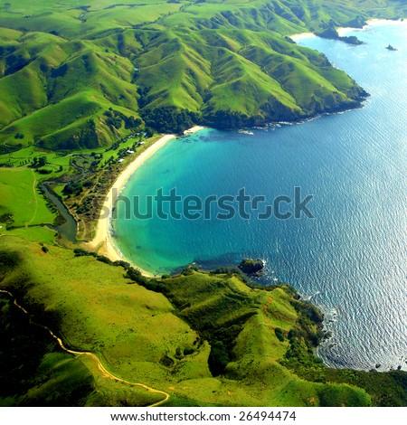 Taupo Bay, New Zealand - stock photo