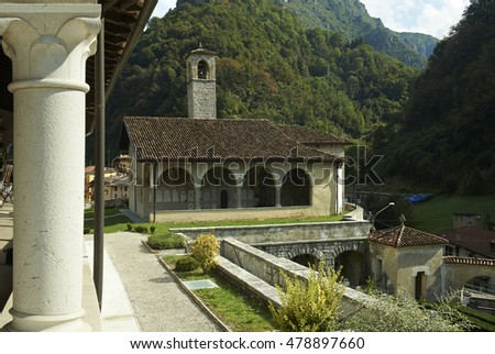 Tavernole sul Mella (Bs), Italy, the church of St.Filastrio,