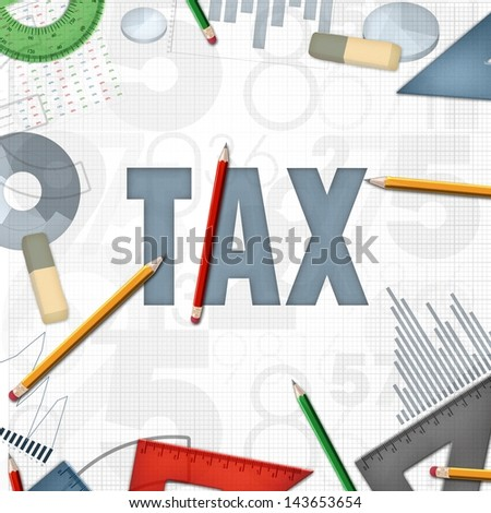 tax accounting financial business background - stock photo