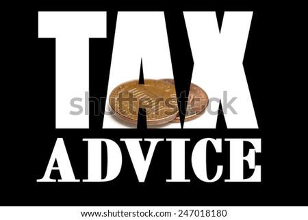 Tax Advice  - stock photo