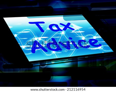 Tax Advice On Phone Showing Tax Help Online - stock photo