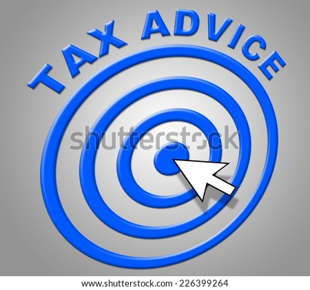 Tax Advice Showing Irs Support And Instructions - stock photo
