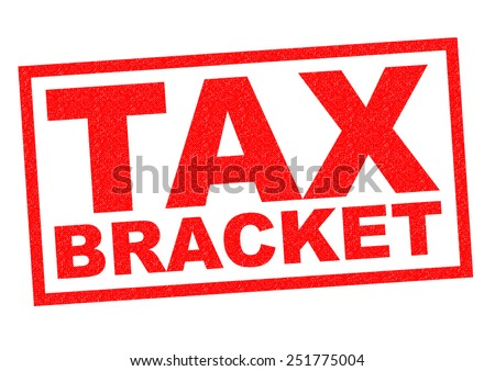 TAX BRACKET red Rubber Stamp over a white background. - stock photo